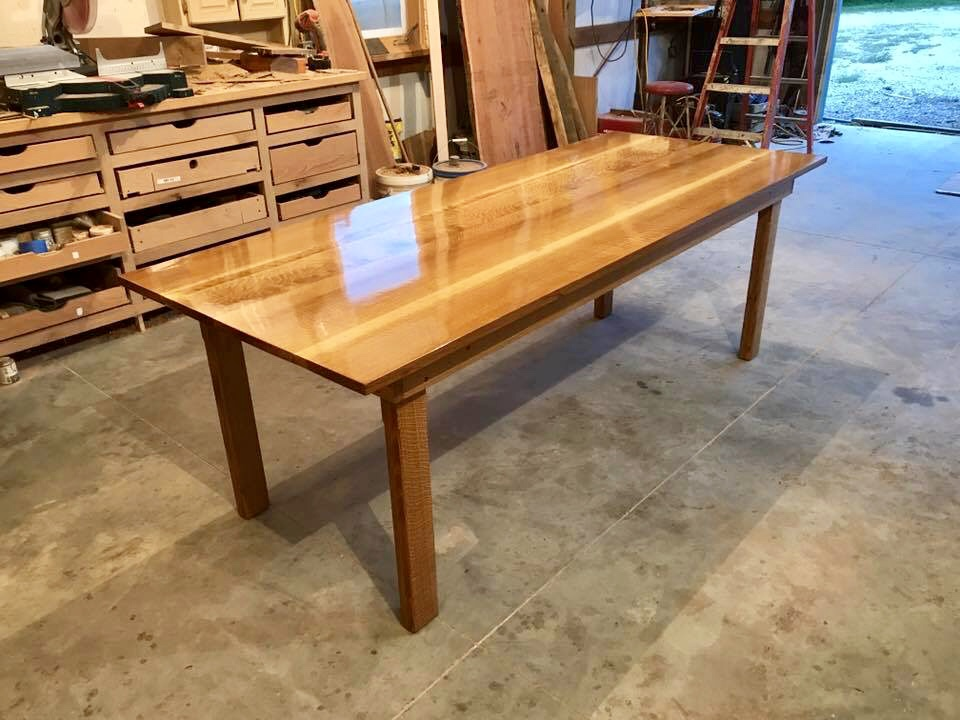 A beautiful table made by Woods of Wisdom custom for your kitchen