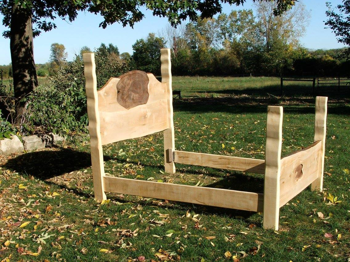 King size live edge bed made from the dynamic duo at Woods of Wisdom which is located in Rineyville, Kentucky.