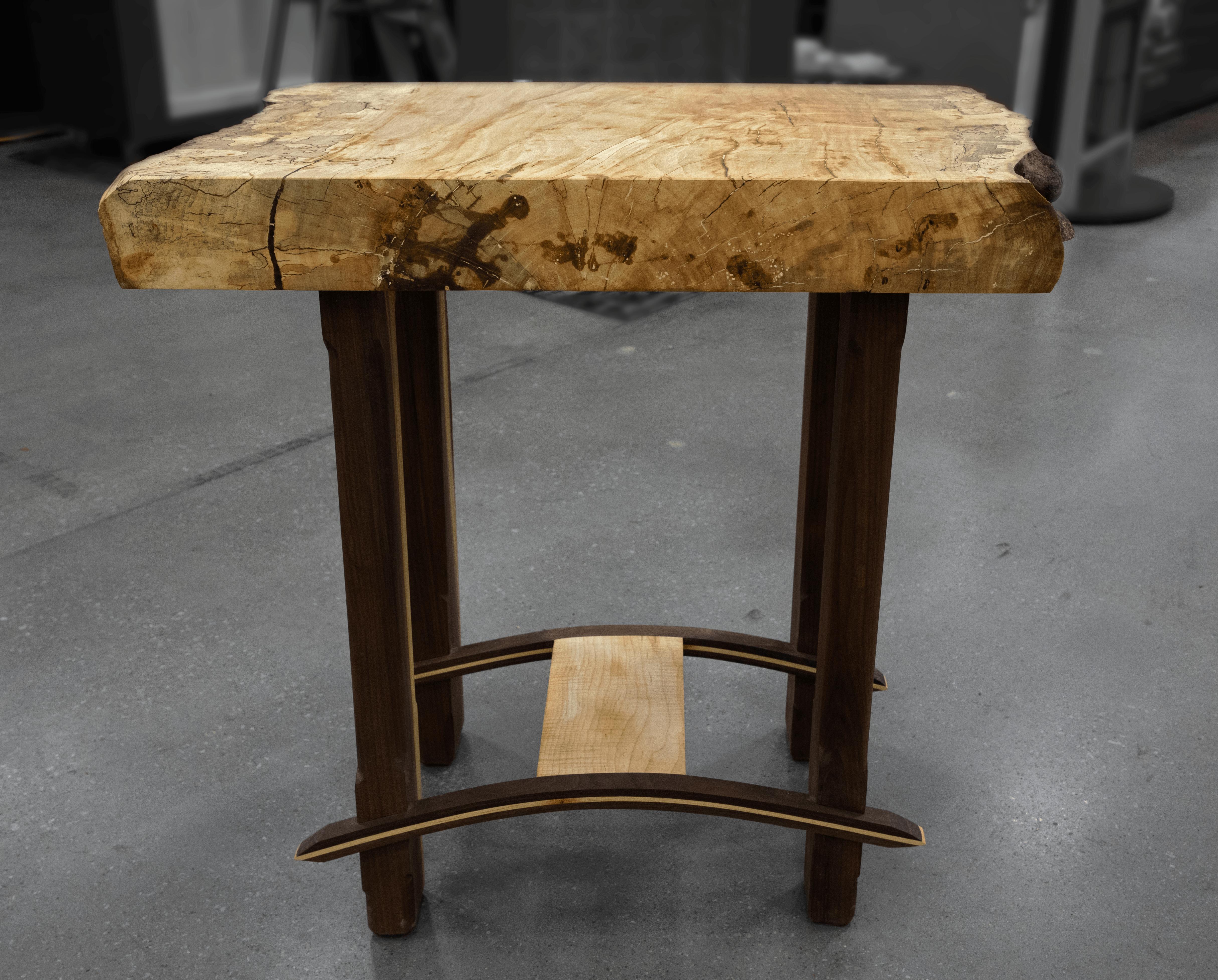 Custom live edge butcher block table